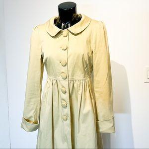 Vintage BETSEY JOHNSON Tan Trench Jacket